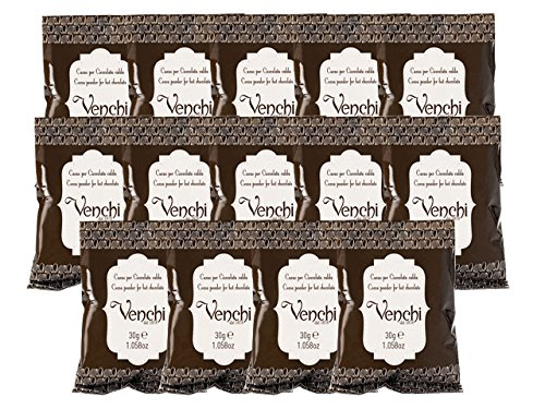 Venchi Italian Chocolate - Cocoa Powder for Hot Chocolate (14 Single Packets) by Venchi