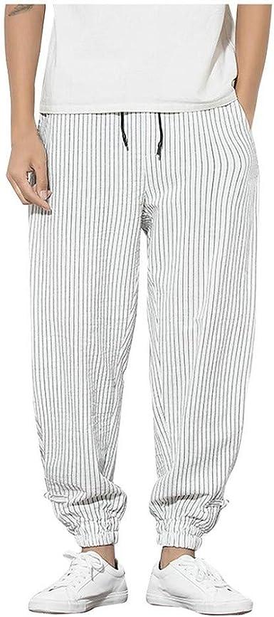 Pantalones Hombre Ocio Suelto Pantalones Para Hombre Color Solido Pants Comodo Y Casual Pantalones Sueltos De Algodon Y Lino Moda Y Elegancia Harem Pantalon Amazon Es Ropa Y Accesorios
