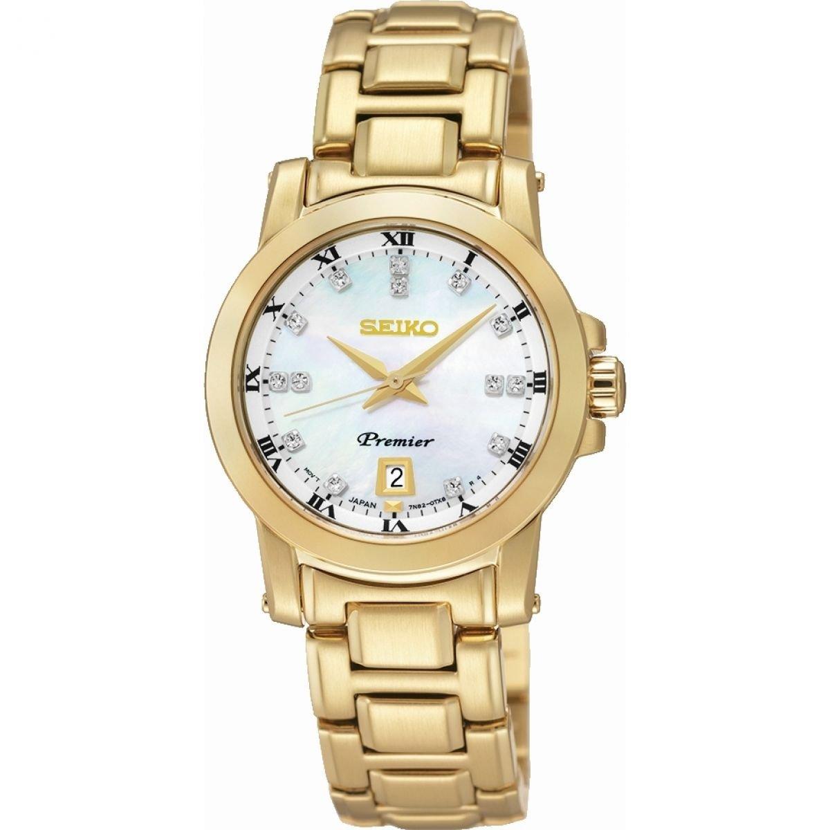 Seiko Reloj Analógico para Mujer de Cuarzo con Correa en Acero Inoxidable SXDG04P1: Seiko: Amazon.es: Relojes