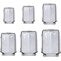 """Suitcase Cover Protectors Luggage Trolley Case Protector Clear PVC Waterproof Dust Proof Fit for 20"""" 22"""" 24"""" 26""""28"""" 30"""""""