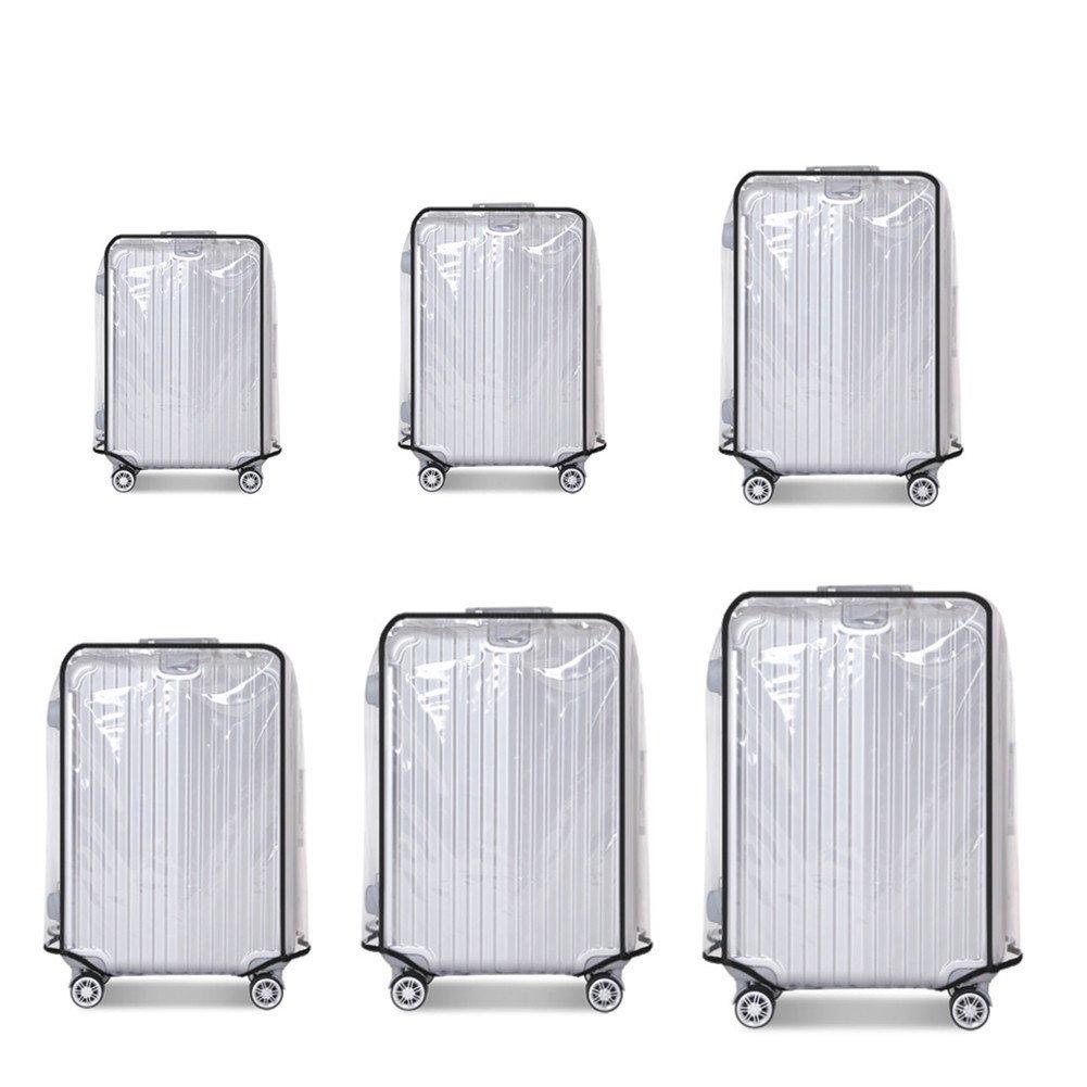 FANMURANスーツケースカバープロテクター荷物トロリーケースプロテクタークリアPVC防水ほこり防止フィットfor 20