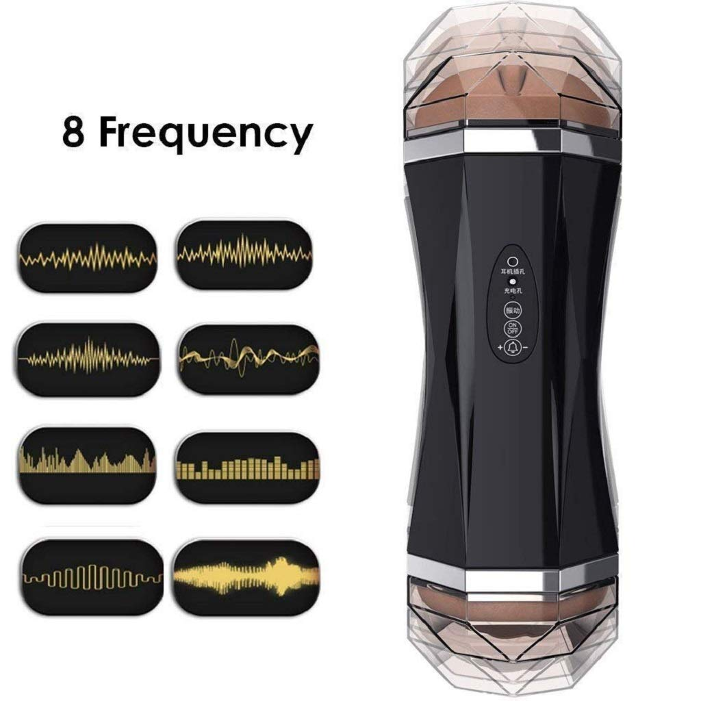 Vibrating Sucking Massager, Men's Electric Pusseys Strocker Sleeve Cup Toys with 8 Thrusting Modes - Oral Automatic Cup for Men Tshirt