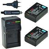 ChiliPower Samsung BP1030, BP1130 Kit: 2x Batterie (1130mAh) + Chargeur pour Samsung NX200, NX210, NX300, NX1000, NX1100, NX2000, ED-BP1030