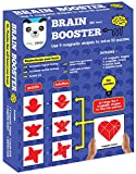 Play Panda Brain Booster Set 2 - 56 puzzles designed to boost intelligence - With Magnetic shapes, Magnetic board, Puzzle book and Solution book