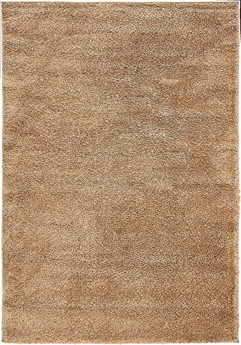 Unique Loom Solo Collection Solid Plush Kids Light Brown Area Rug (5' 0 x 7' 7) ()