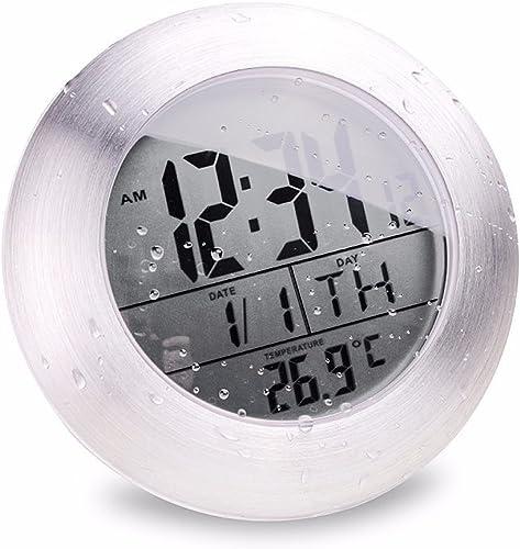 JINHONG Waterproof Digital Bathroom Wall Clock Suction Cup Shower Clock with LCD Display Table Clock