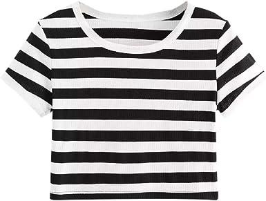 Qingsiy Camisetas Mujer Blusa Suelta De Mujer Manga Corta Camiseta ...