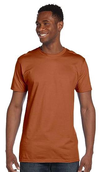 3613b874 Hanes 4.5 oz., 100% Ringspun Cotton nano-T T-Shirt (4980) ORANGE ...