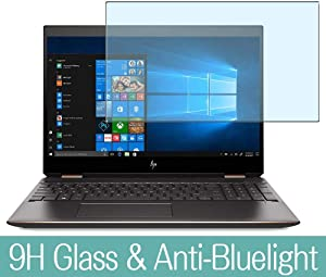 """Synvy Anti Blue Light Tempered Glass Screen Protector for HP Spectre x360 15-df1000 / df1004na / df1010na / df1550nd / df1020ca / df1004tx 15.6"""" Visible Area Screen Film Protectors"""