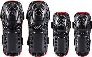 NBKLS Genouillère Moto Genou Protection genouillères poreuses coude Quatre pièces Anti-Chute Patinage Ski vélo équipement de Protection
