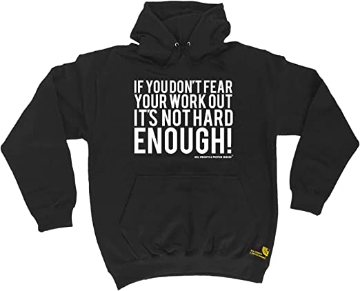 If You Don/'t Fear Your Workout SWPS HOODIE hoody birthday workout training WHITE