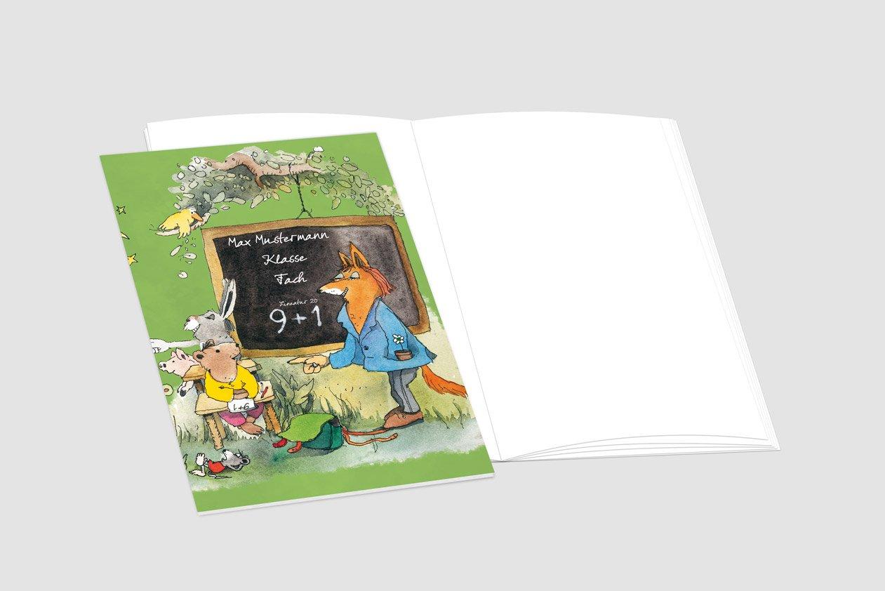 24 lustige JANOSCH-Schulhefte A4, »Fröhliche Schulstunde«, Schulstunde«, Schulstunde«, Lineatur 27, MandarinOrange, personalisierbar, 32 Seiten B077VRBC9K | Neuer Eintrag  ca3f2c