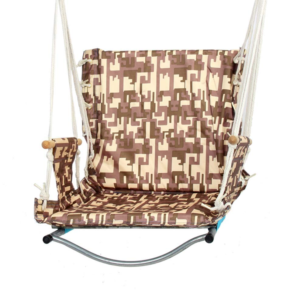 Swing Hanging Chair, Knitted by Cotton Rope Hammock Swing Chair for Indoor/Outdoor, Patio, Deck, Yard, Garden, Bar, Dorm Room, A27