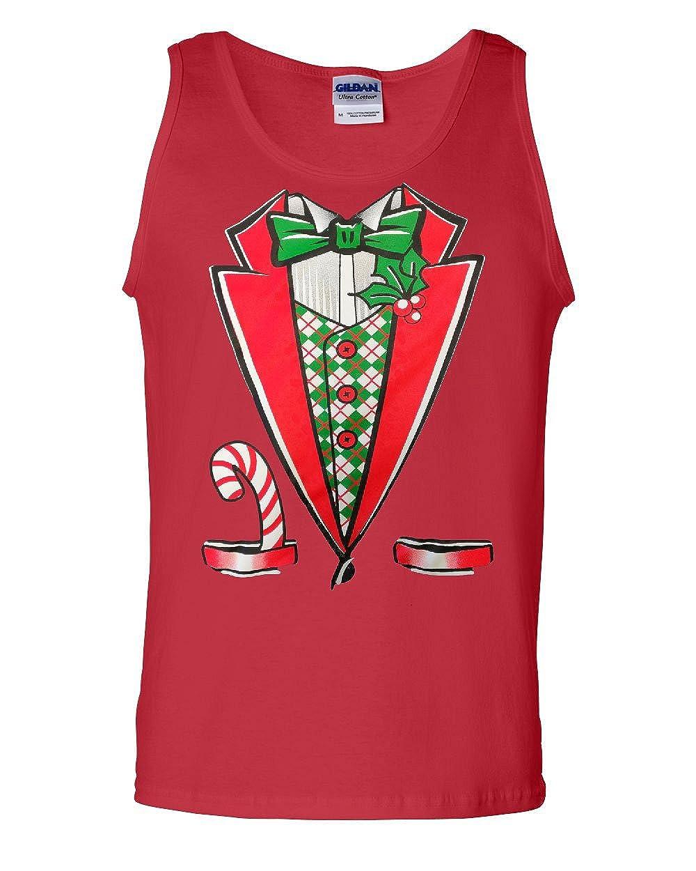 Christmas Tuxedo Tank Top Funny Xmas Santa Elf
