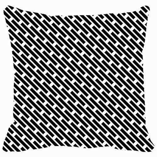 Black White Vivid Clip Art Throw Pillows Covers Accent Home Sofa Cushion Cover Pillowcase Gift Decorative 18x18 inches]()