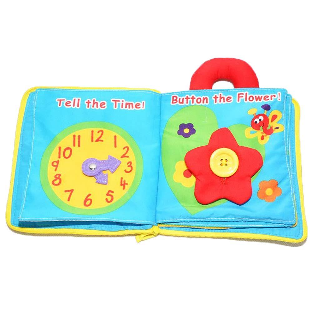 forepin Libros de Tela Blandos Juguete Educativo para Bebés Recién ...