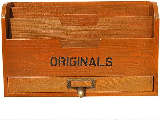 Vintage libro de madera estante de almacenamiento manualidades ...