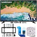 "Samsung UN75NU6900 75"" NU6900 Smart 4K UHD TV (2018) w/Wall Mount Bundle Includes, Wall Mount Kit for 45-90 inch TVs, Screen Cleaner (Large Bottle) and SurgePro 6-Outlet Surge Adapter w/Night Light"