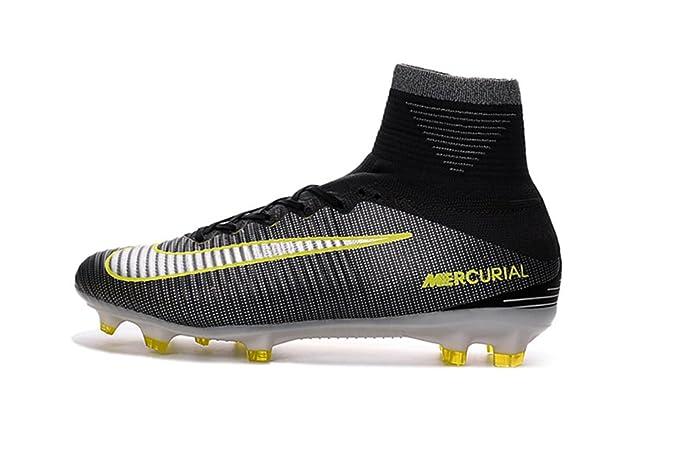 2016 nuevo estilo para hombre Mercurial XI Superfly V CR7 Hi Top obra FG – Zapatos de fútbol botas de fútbol, hombre, negro: Amazon.es: Deportes y aire ...