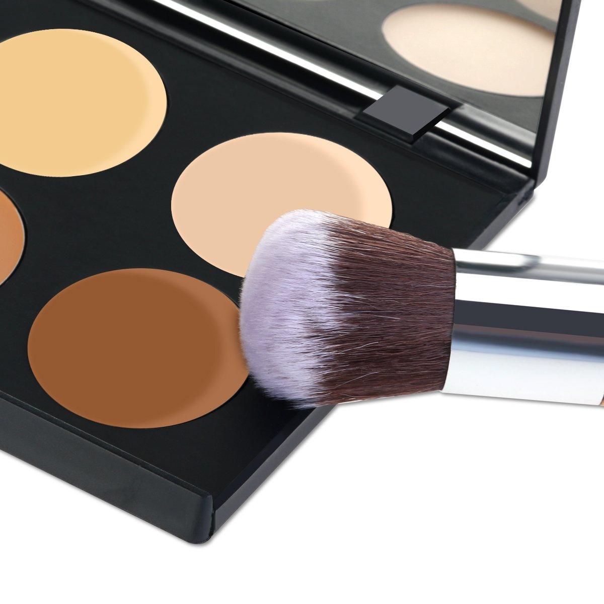 RUIMIO Contour Kit Cream Contour Palette 6 Colors with Makeup Brush Set by PIXNOR (Image #7)