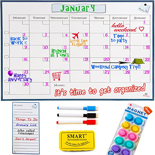 Monday to Sunday Dry Erase Calendar -1612