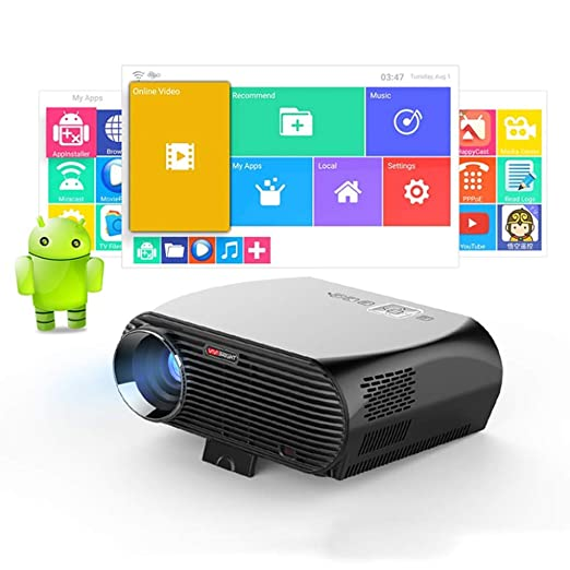 KAIDILA Proyector, GP100 para Video Proyector 3200 lúmenes 6.0.1 ...