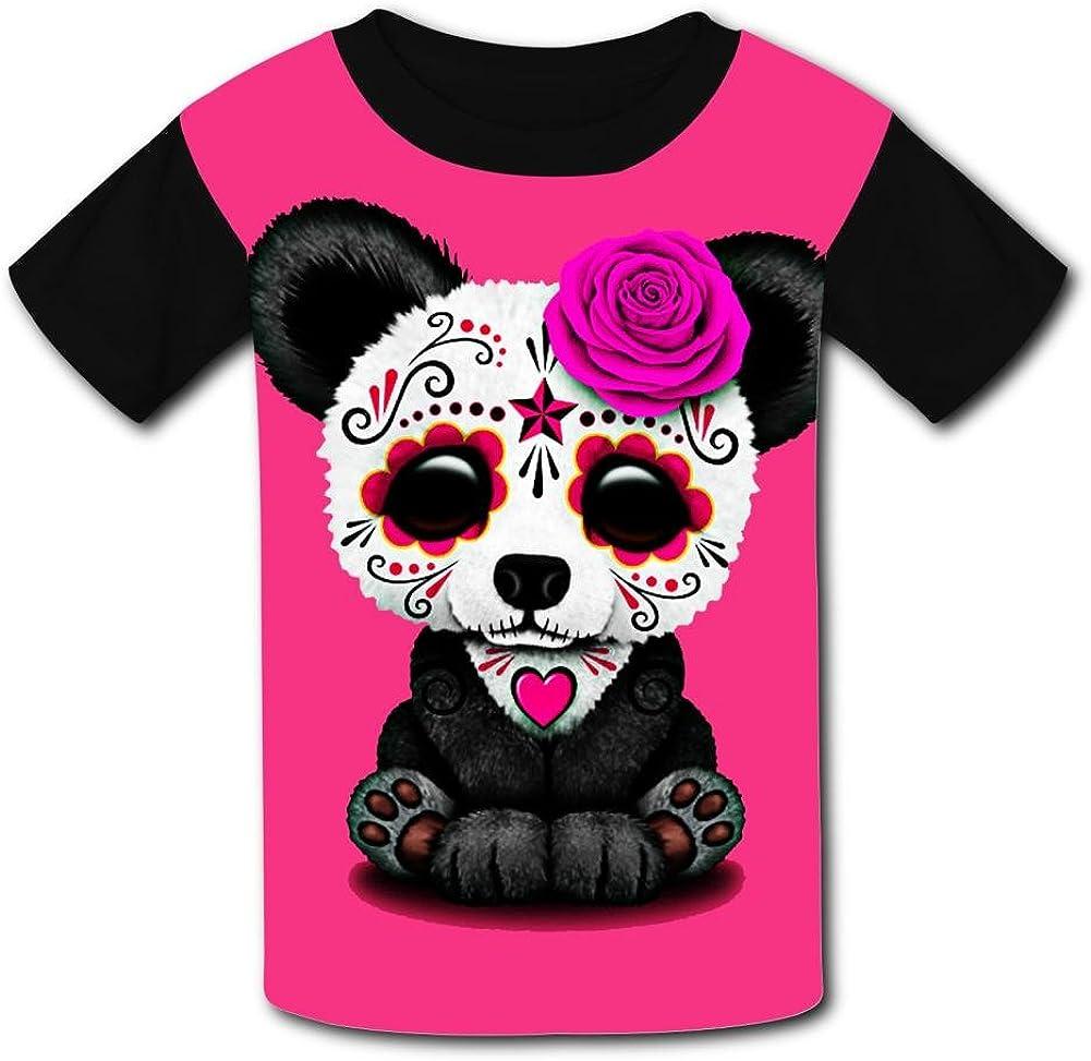 Yeeky-LA Custom Panda Sugar Skull Boys Girls Tee Shirt Teenager Youth Children T-Shirts