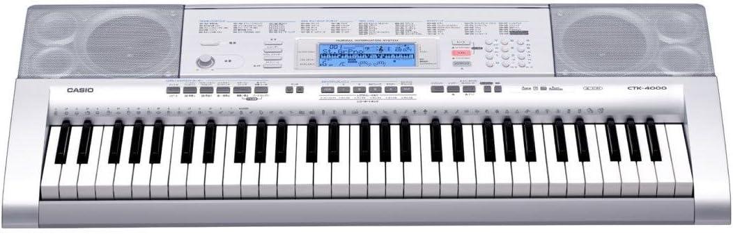 Casio CTK-4000 - Teclado MIDI (61 llaves, USB, 4,6 kg, Windows XP/Vista - Mac OS X 10.3, 550 x 376 x 130 mm, 9V DC, 7.7W)
