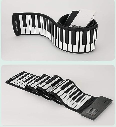 RROWER Teclado Mano Rollo Piano Portable 88 Clave Profesional ...