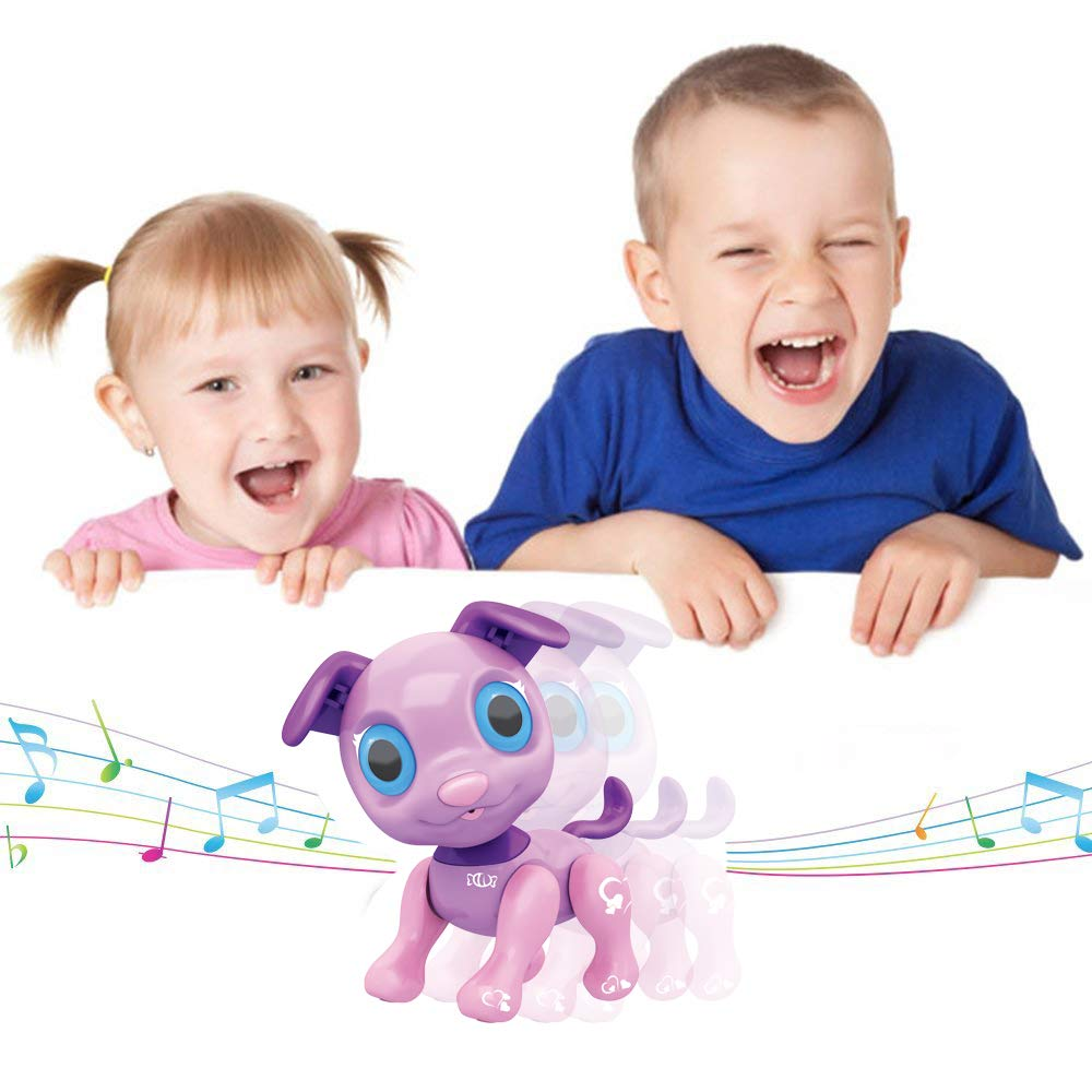Liberty Imports My Best Friend Interactive Smart Puppy | Kids Electronic Pet Toy Robot Dog | Ideal Gift Idea for Girls (Purple) by Liberty Imports (Image #4)