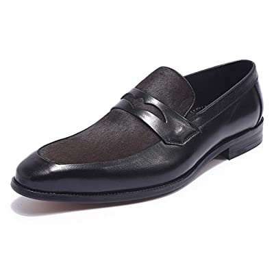 Mens Loafers Genuine Leather Apron Slip On Dress Shoes Fashion Penny Loafers Oversized Shoes 15 Man | Oxfords