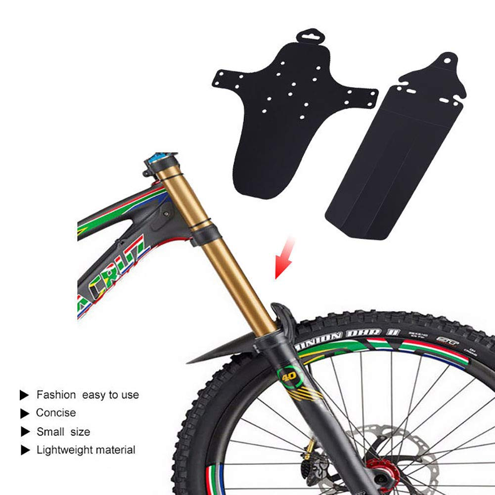 FCUCKDANN Front And Rear Mudguards For Mountain Bike-Front Rear Mudguard Fender Set Mountain Bike Tire Fenders Cycling Accessory MTB Mountain Road Bike Bicycle Tyre Tire