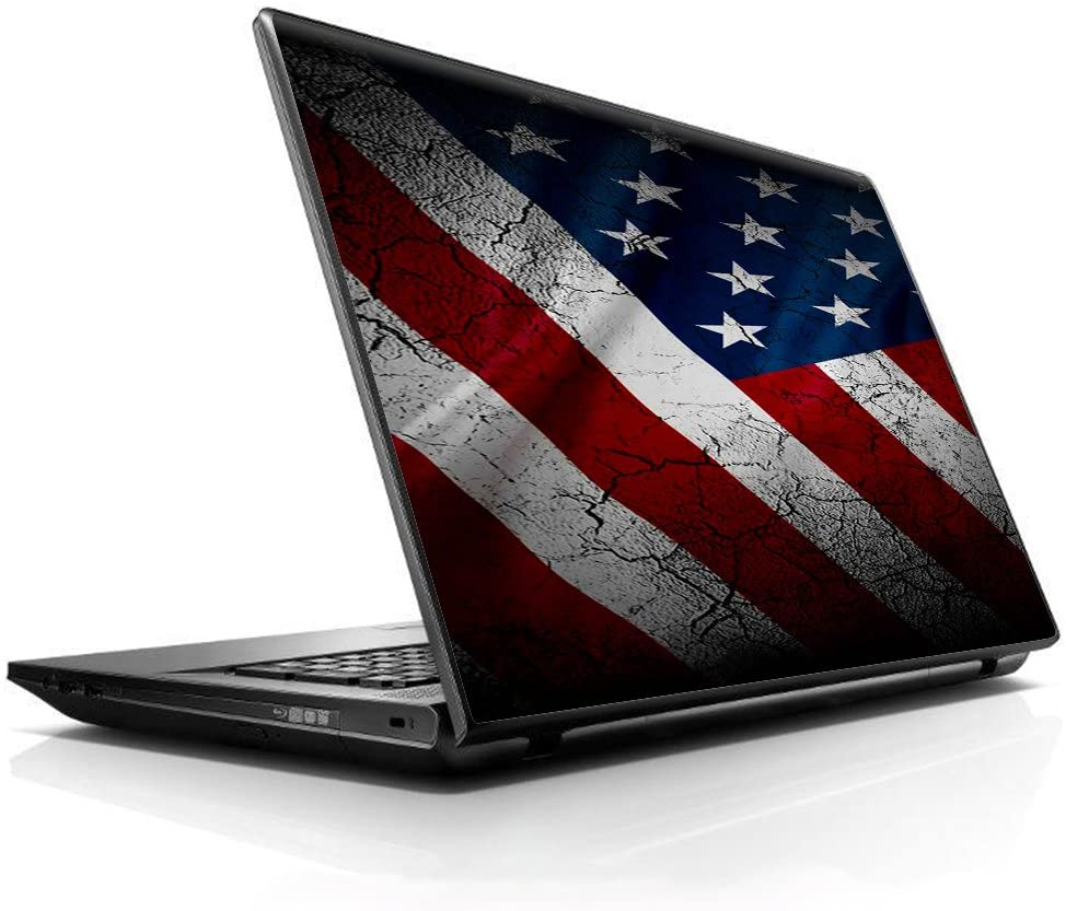 "15 15.6 inch Laptop Notebook Skin vinyl Sticker Cover Decal Fits 13.3"" 14"" 15.6"" 16"" HP Lenovo Apple Mac Dell Compaq Asus Acer/American Flag distressed"