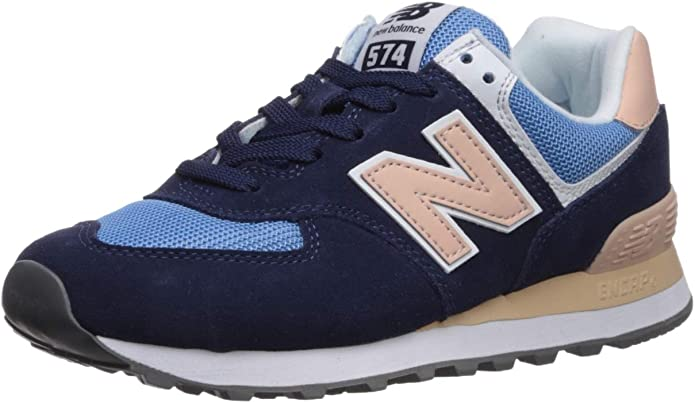 New Balance WL 574 B Sneakers Damen Blau/Rosa (Navy/Pink)