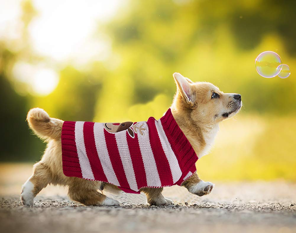 PETCEE Dog Sweater,Soft Fabric with Thick and Warming,Easily Put On and Off