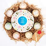 MIYAY Bath Bombs for Kids Gift Set Fizzy Lush Bath Balls Kit for Women Girls Men Mom Wife Christmas Birthdays Natural Organic Essential Oil Skin Relax Spa 3.5 OZ (7 Different Scents)
