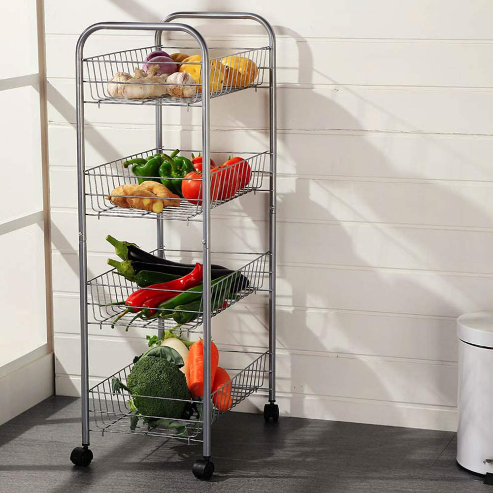 Shelf Storage Racks Pot Rack Storage Basket Shelf Baskets Creative Kitchen Landing Storage Shelf 4th Floor It Can Move Storage Rack Large Capacity ZHAOYONGLI by ZHAOYONGLI-shounajia (Image #5)