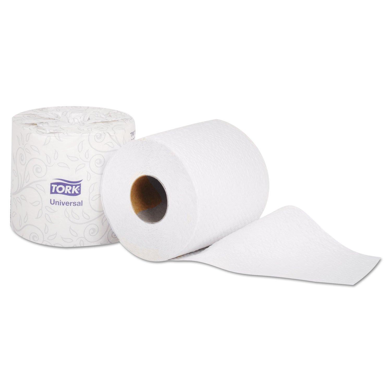 Tork Universal TS1636S Bath Tissue Roll, 1-Ply, 4'' Width x 3.75'' Length, White (Case of 96 Rolls, 1,000 per Roll, 96,000 Sheets)