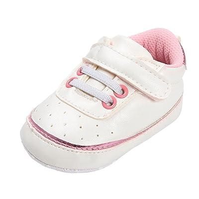 Witspace Infant Baby Boys Girls Soft Sole Crib Shoes Newborn Kids Cute Prewalker Sneakers