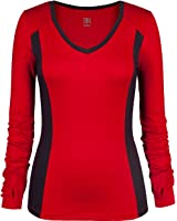 Tail Women's Slam Event Autumn Long Sleeve Top Red/Iron
