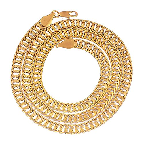 - Hometom Necklaces, Men Women Fashion Luxury Filled Curb Cuban Link Gold Necklace Jewelry Chain (foxtail)