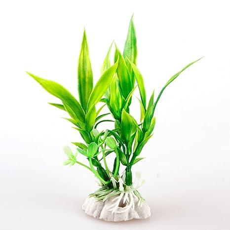 LNIMIKIY - Planta acuática para decoración de peceras - Plantas acuáticas Artificiales Grandes de plástico para