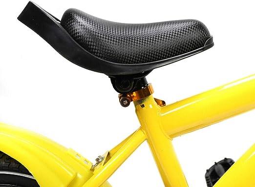 color amarillo Berkalash Bicicleta infantil de 14 pulgadas para ni/ños y ni/ñas adecuado para ni/ños mayores de 4 a/ños con ruedas de entrenamiento de pedal