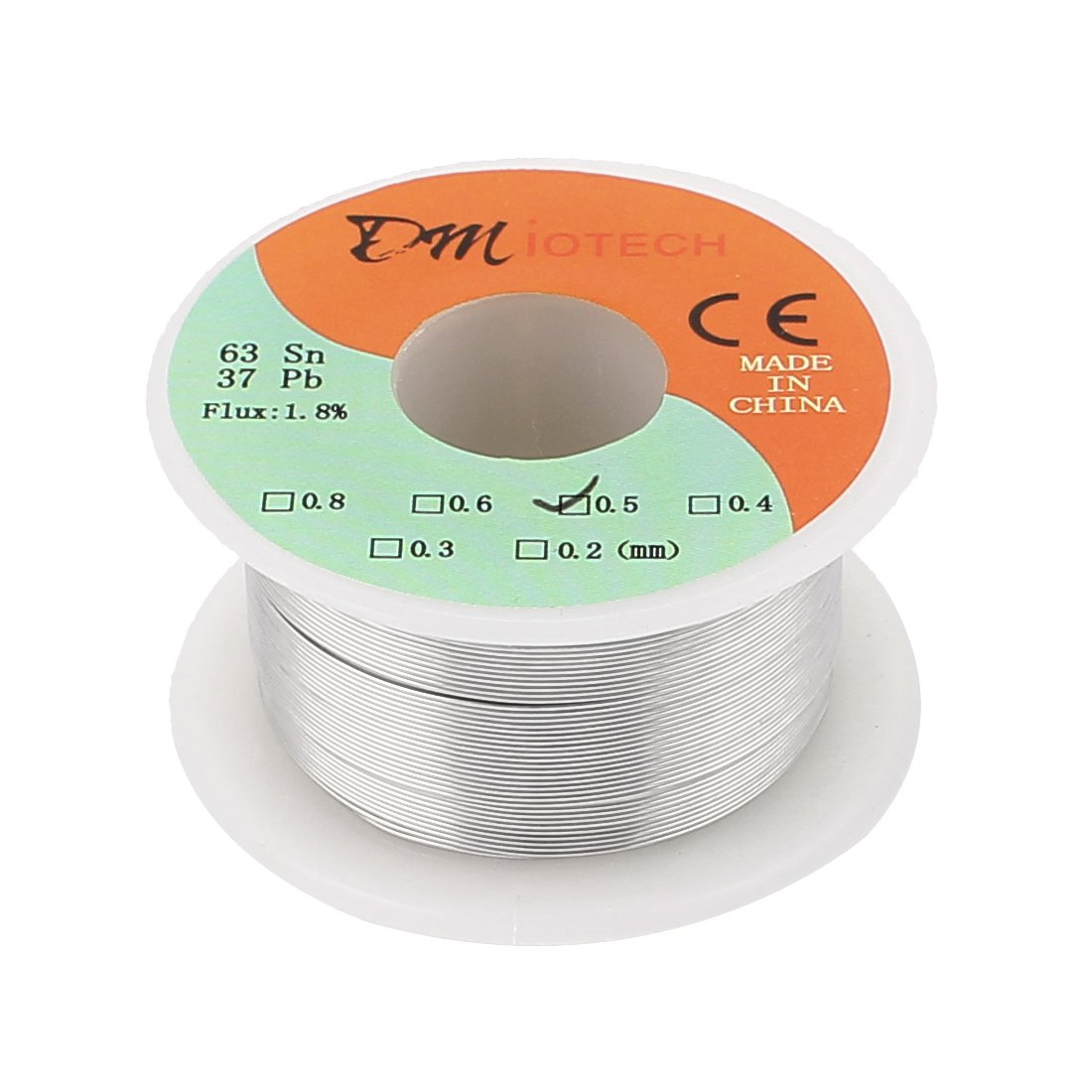 DMiotech 0.5mm 50G 63 37 Tin Lead Rosin Core Flux Solder Wire Reel