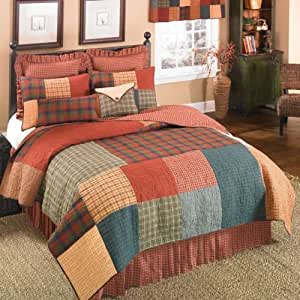 Amazon Com Donna Sharp Campfire Square Patchwork 100