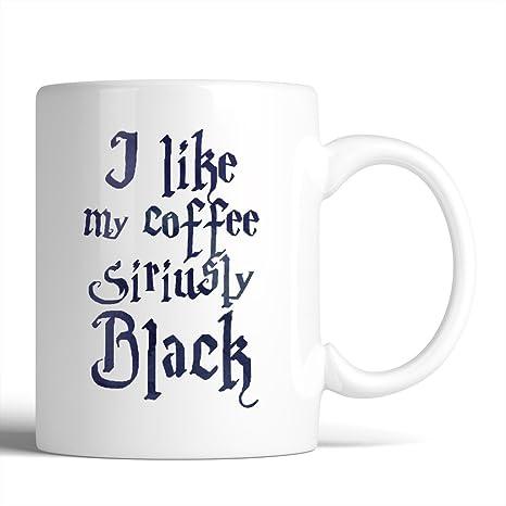 Amazon.com: Harry Potter I Like My Coffee siriusly Negro ...