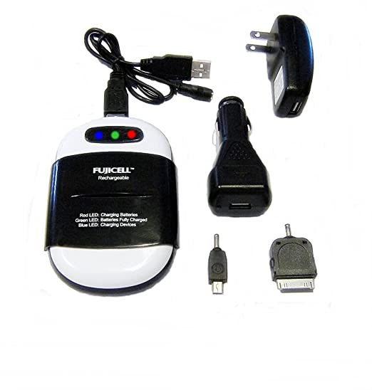 Amazon.com: AA/AAA Cargador de batería USB y cargador de ...