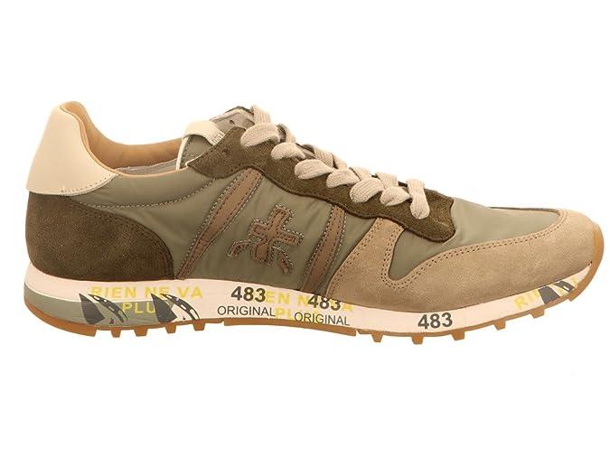 PREMIATA Herren Sneaker Eric Kahki Grün 456998  Amazon.de  Schuhe    Handtaschen d95c0e6ec4