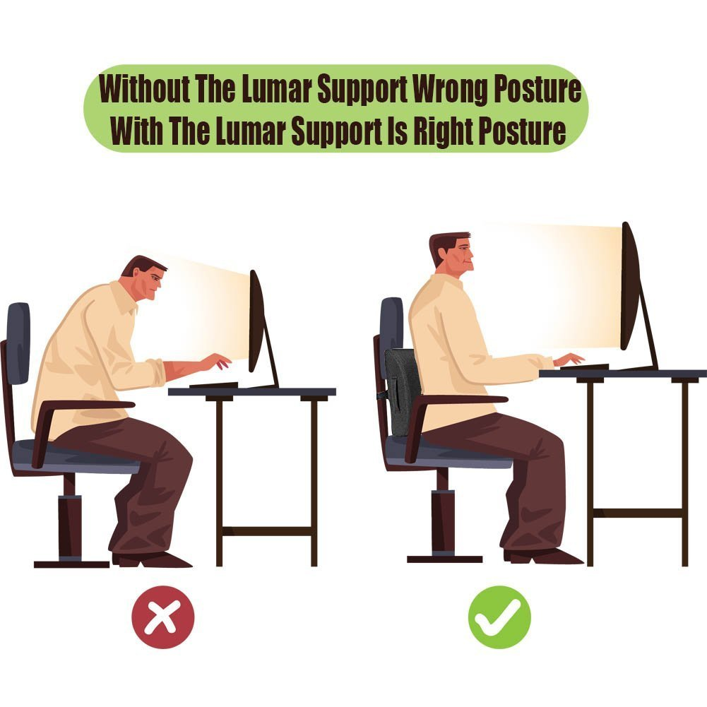 Amazon.com: Back Support Cushion for Back Pain Relief Memory ...