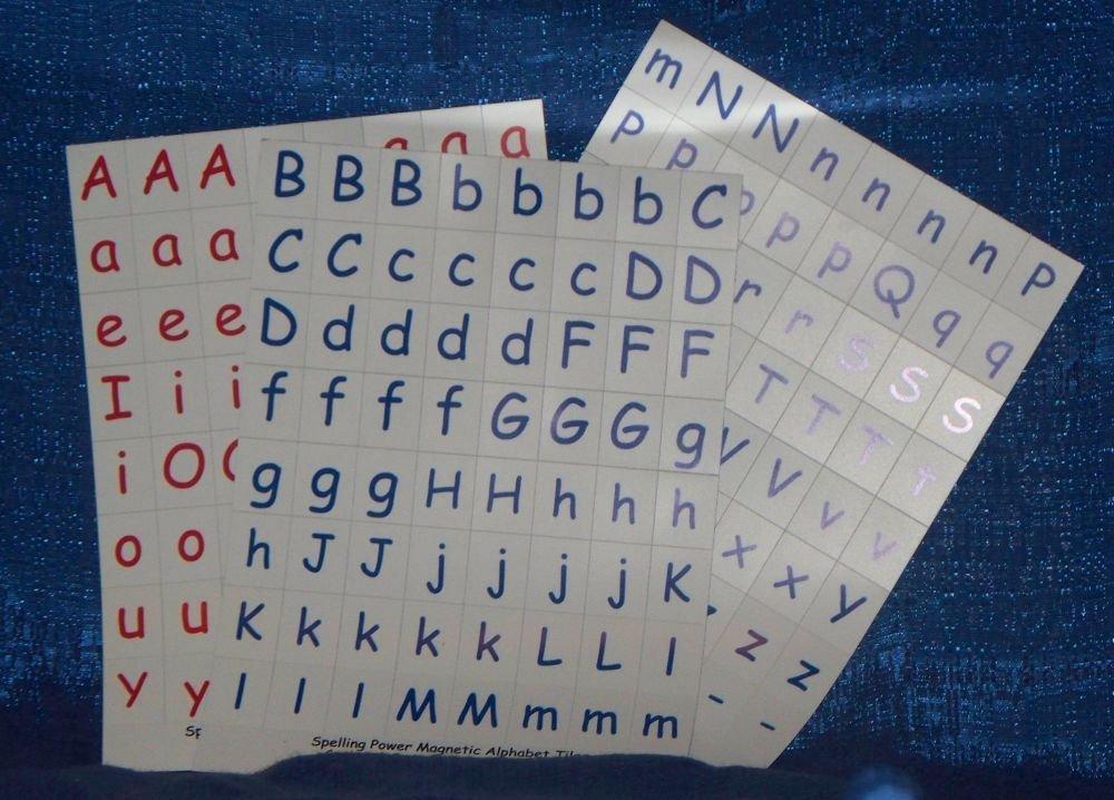 Spelling Power Magnetic Alphabet Tiles Organizer Box by Spelling Power
